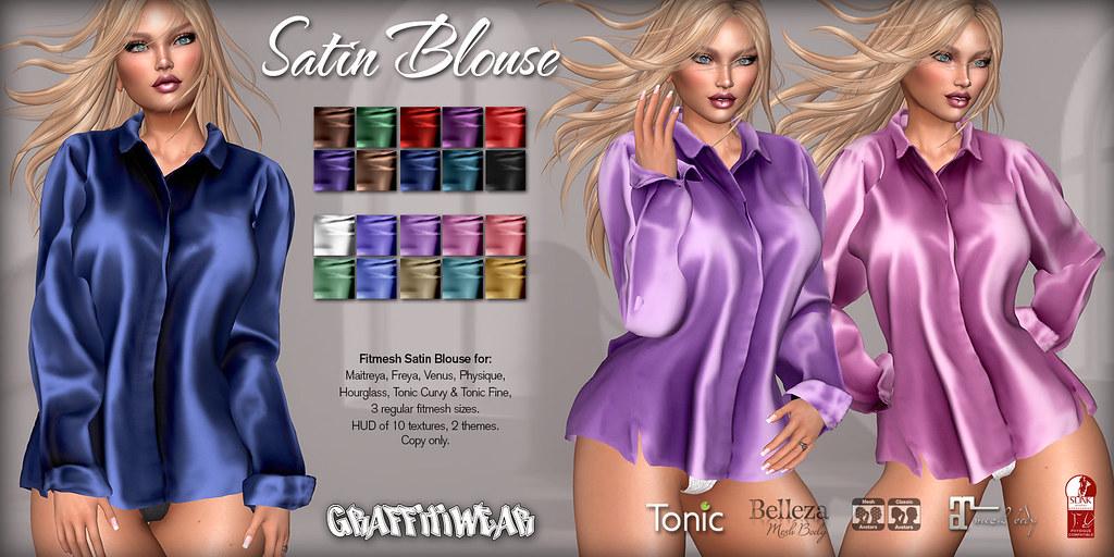 Satin Blouse Ad
