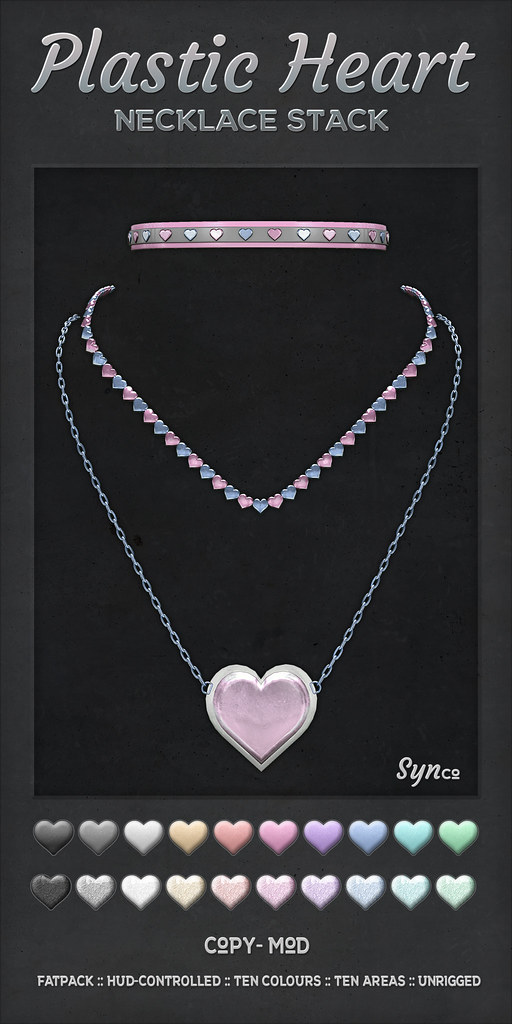 SynCo – Plastic Heart Necklace Stack Vendor