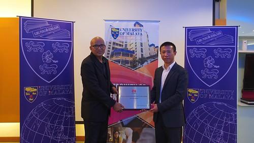 UM-Huawei ICT Academy Plague Award Ceremony, 16 November 2018