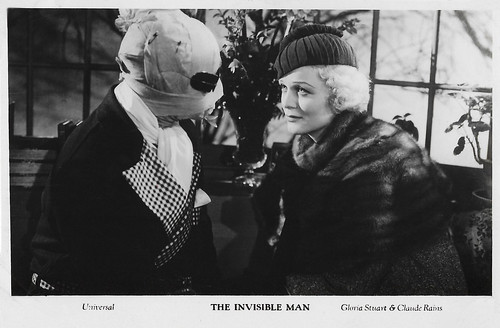 Gloria Stuart and Claude Rains in The Invisible Man (1933)