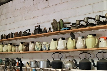 Irons, electric jugs and kettles, Finley Historical Museum, NSW
