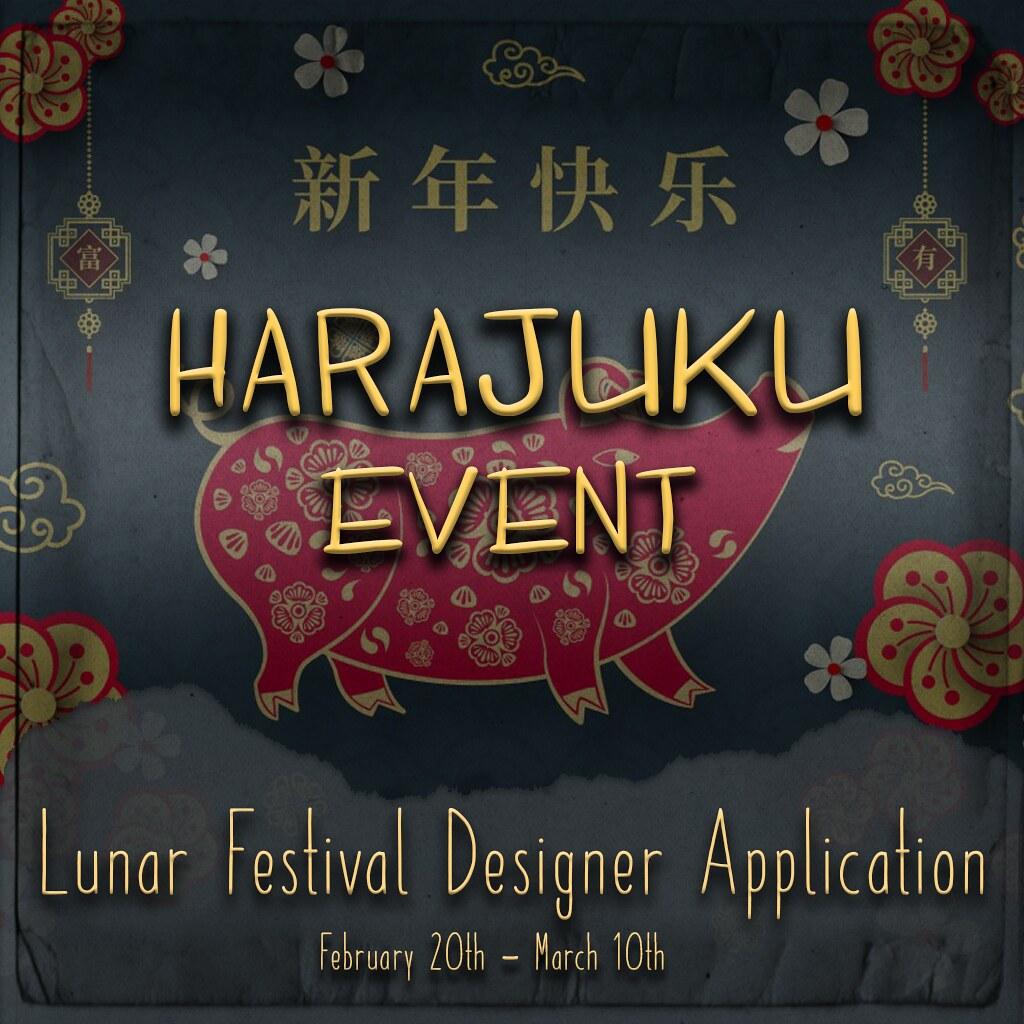 """Harajuku Event 6th Round Designer App """"Lunar Festival"""""""