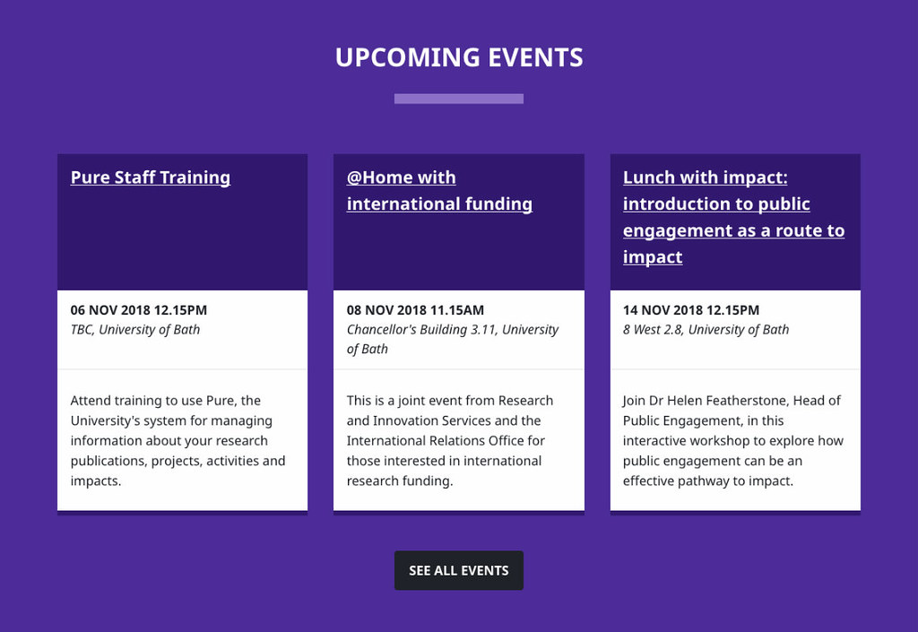 Upcoming events   University of Bath   Flickr