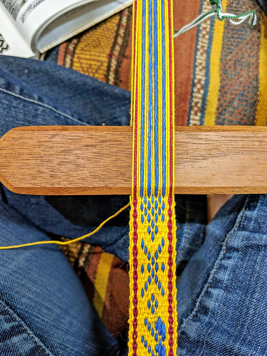 Weaving a Lithuanian-style sash on backstrap loom by irieknit