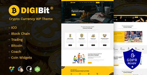 DigiBit v1.3 - Cryptocurrency Mining WordPress Theme