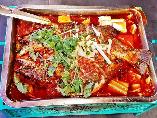 Grilled Sea Bass Fish In Spicy Fragrant Broth