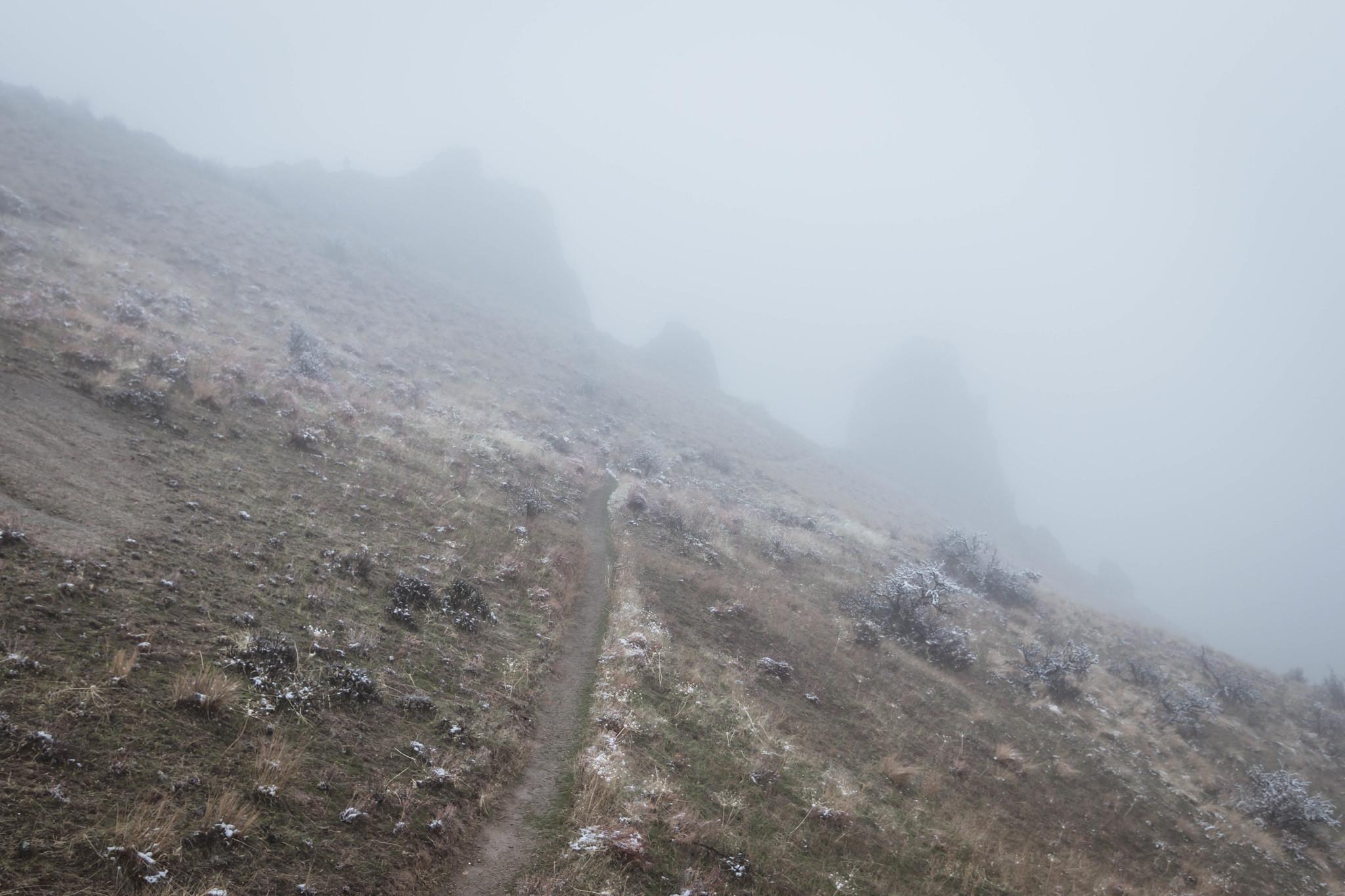 Saddle Rock in the mist