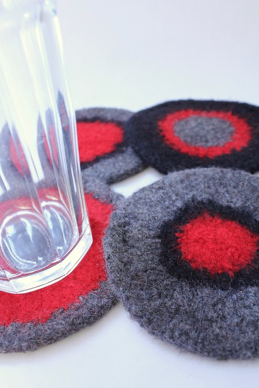 Felted Coasters - Wendy