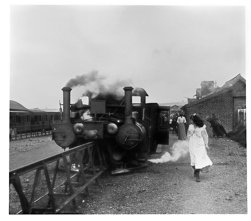 The girl might well look at the idiosyncratic locomotive waiting to leave Listowel station, for there was nothing else like it in the British Isles. It ran with 'a happy disregard for punctuality'. From Lost Railways from Around the World: Listowel & Ballybunion Railway Photo: Archive Farms Inc / Alamy Stock Photo