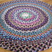 New Handmade Hand laced Round recycled Area Colorful Wool Rug