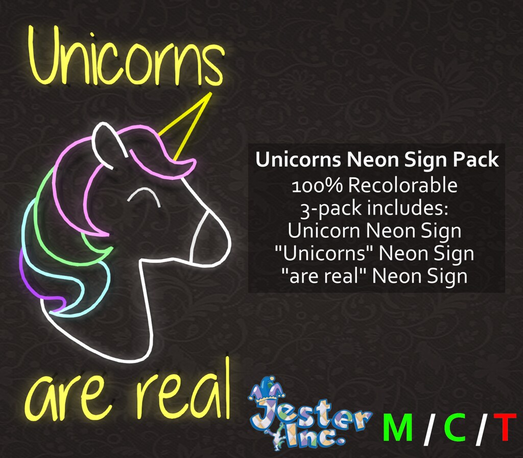 [Jester Inc.] Unicorns Neon Sign Pack!