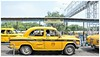 Yellow taxis at the City of Joy, Kolkata