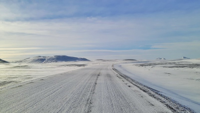 Snow covered roads, Winter Driving Iceland
