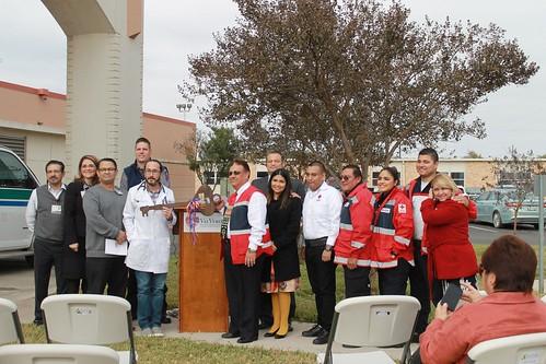 Donación de ambulancia a la Cruz Roja Mexicana