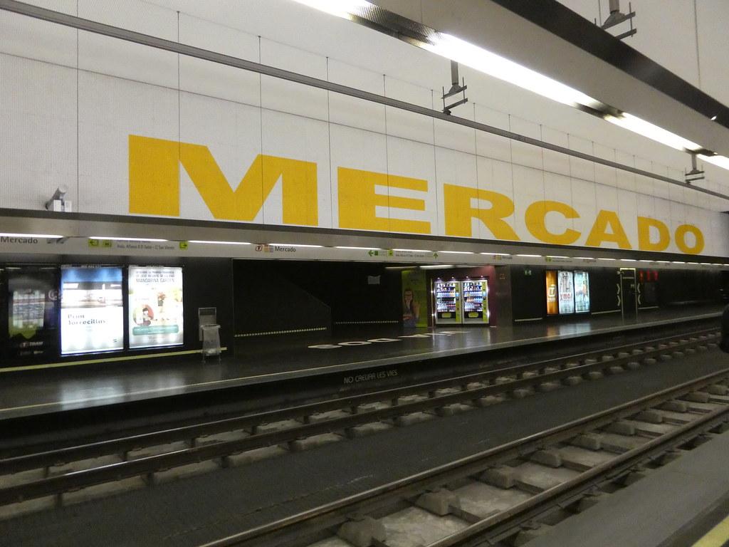 The Mercado tram/train station, Alicante