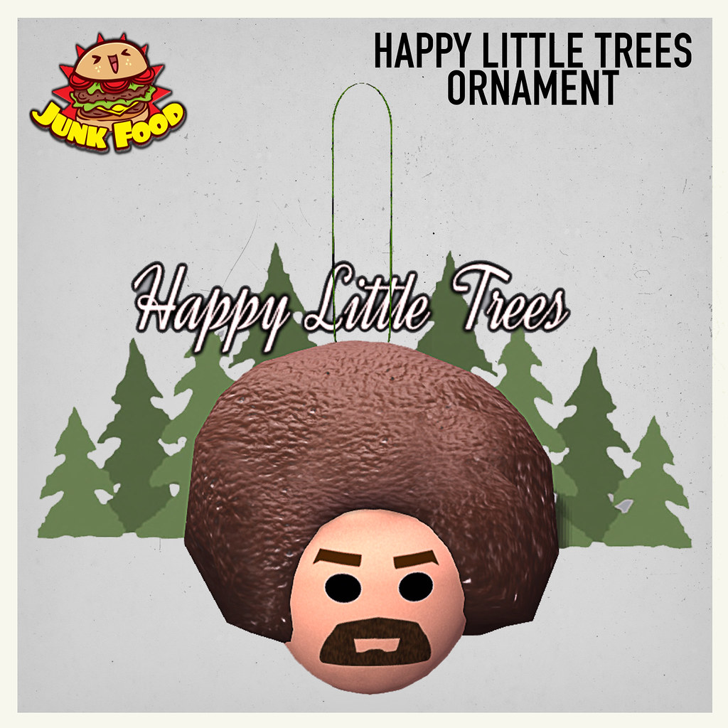 Happy Little Trees Ornament Ad