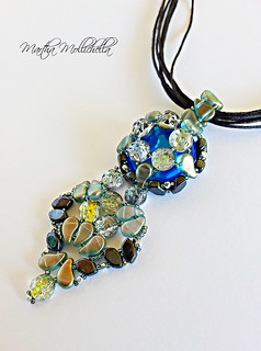 Baroque cabs and paisley duos bead weaving by Martha Mollichella
