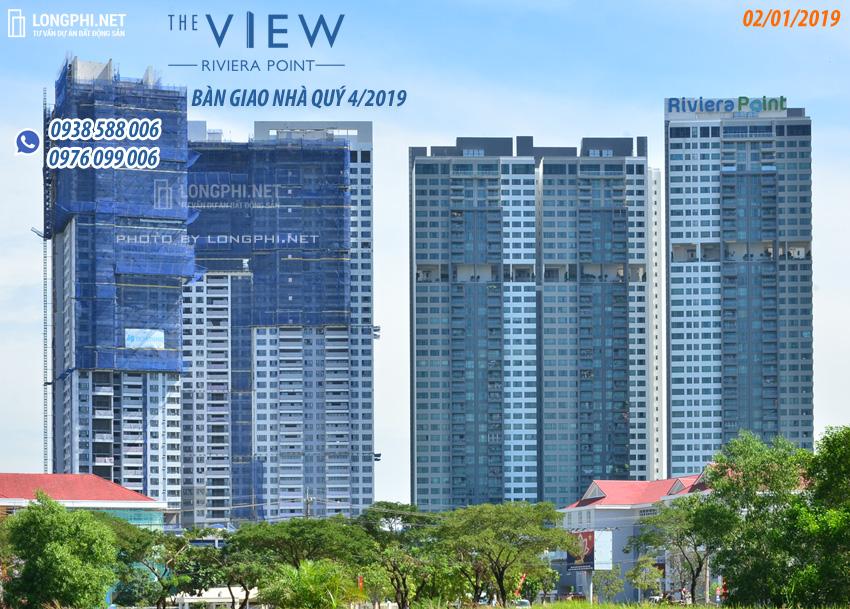 Cập nhật tiến độ thi công xây dựng dự án căn hộ The View Riviera Point tháng 1/2019, chủ đầu tư Keppel Land.