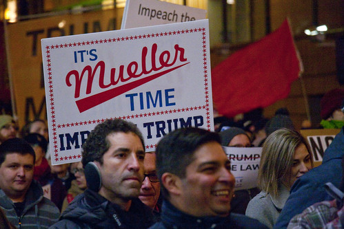 Protest Trump and Protect the Mueller Investigation Rally and March Downtown Chicago Illinois  11-8-18 5087