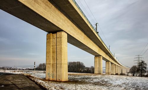 Viadukt Langewiesen 450 m. NBS Erfurt-Nürnberg 23 Januari 2019