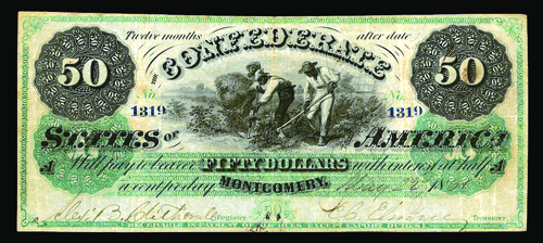 Confederate $50 Montgomery note
