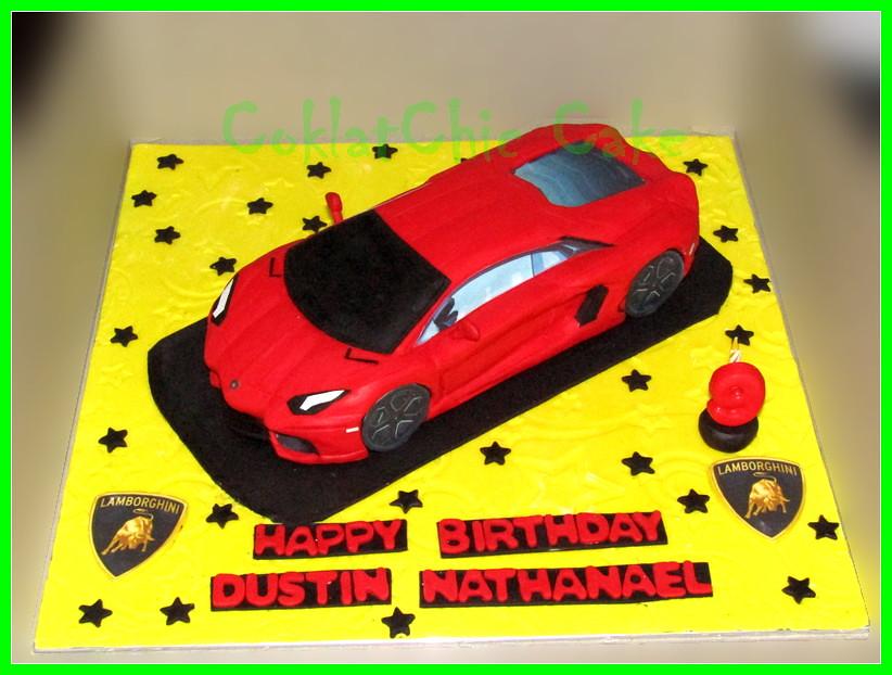 CAKE Lambo Aventador DUSTIN 30 cm