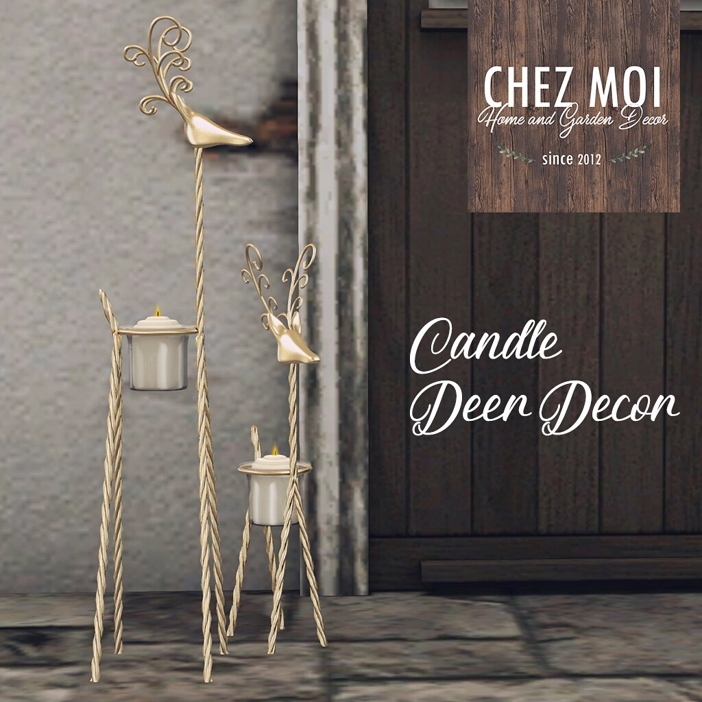 Candle Deer Decor CHEZ MOI