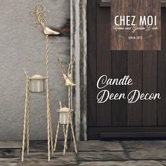Candle Deer Decor CHEZ MOI