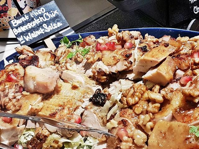 Burnt Miso Butterscotch Chicken With Walnut Salsa