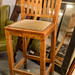 Tall solid wood bar stool E35