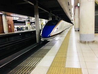E7 Shinkansen in Ueno station