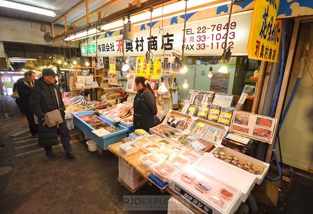 hokkaido itinerary Sankaku Morning Fish Market otaru