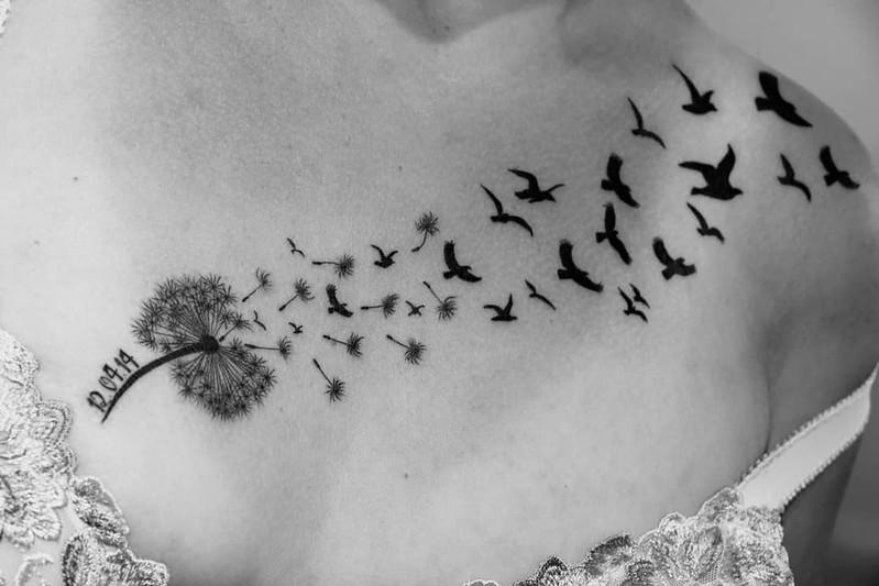 Tatuajes Originales De Diente De León Mini Tatuajes