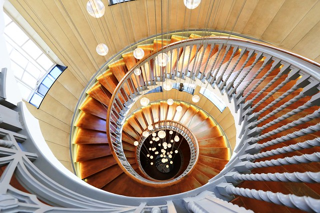 The Cecil Brewer Spiral Staircase in Heal's London