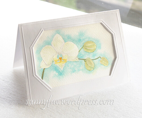 blue orchid birthday card