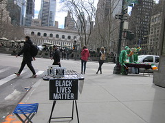 vending black lives matter  jewelry at bryant park