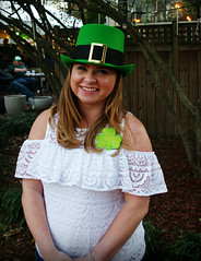Green Hat and White Lace