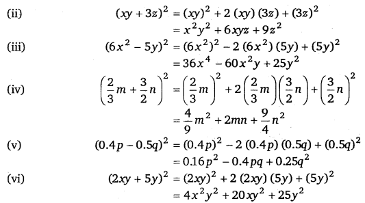 NCERT Solutions for Class 8 Maths Chapter 9 Algebraic Expressions and Identities 27