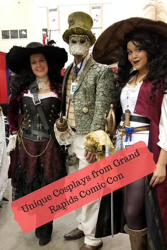 Hook (two of them!) and Tick Tock the Crocodile. From Unique Cosplays at Grand Rapids Comic Con