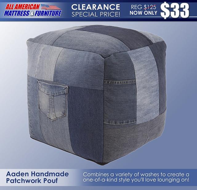 Aaden Handmade Pouf A1000549-SW_NewClearance