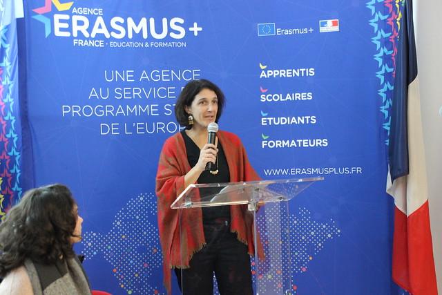 Inauguration des nouveaux locaux de l'agence ERASMUS + dans le quartier Euratlantique à Bordeaux