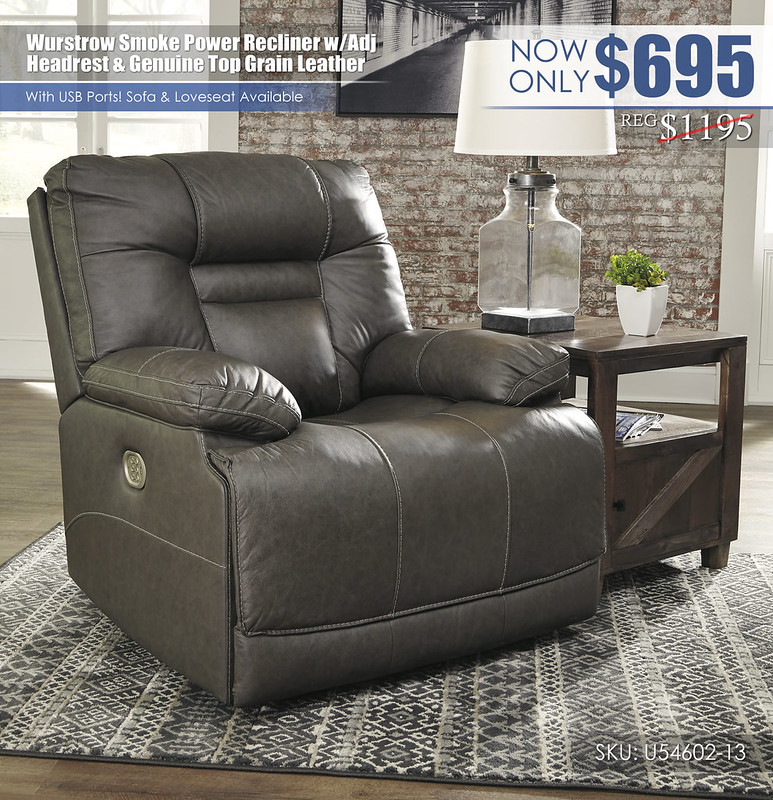 Wurstrow Smoke Power Recliner_U54602-13