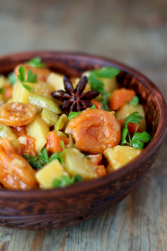 potato stew with dried apricots