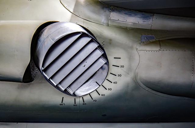 Early Kestrel jet exhaust nozzle..