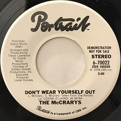 THE MCCRARY'S:DON'T WEAR YOURSELF OUT(LABEL SIDE-B)