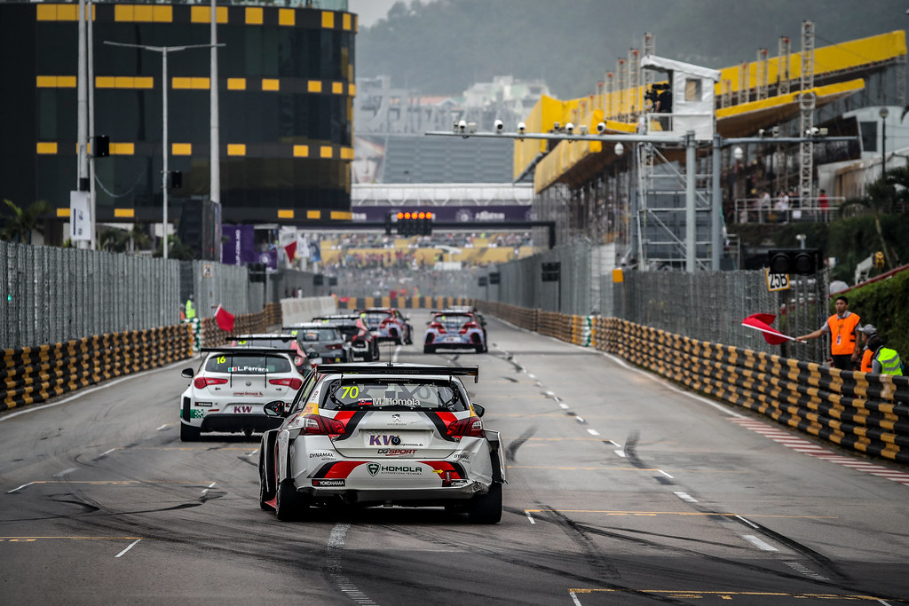 70 HOMOLA Mato, (svk), Peugeot 308 TCR team DG Sport Competition, action during the 2018 FIA WTCR World Touring Car cup of Macau, Circuito da Guia, from november  15 to 18 - Photo Alexandre Guillaumot / DPPI