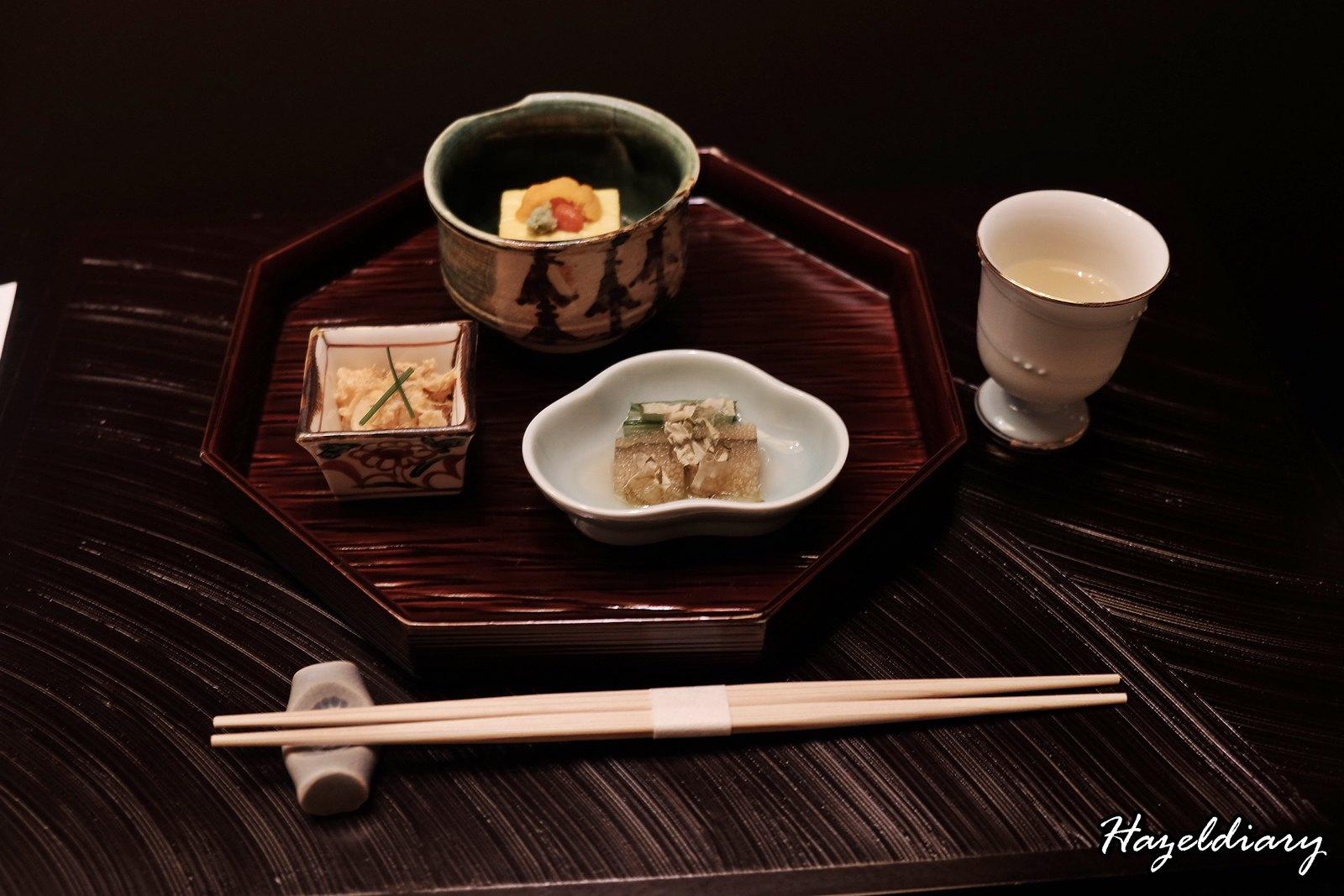 kaiseki soujuan keio plaza hotel tokyo-three seasonal appetizer