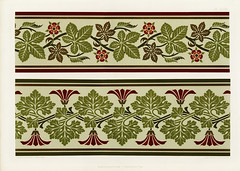 Floral pattern from The Practical Decorator and Ornamentist (1892) by G.A Audsley and M.A. Audsley. Digitally enhanced from our own original first edition of the publication.