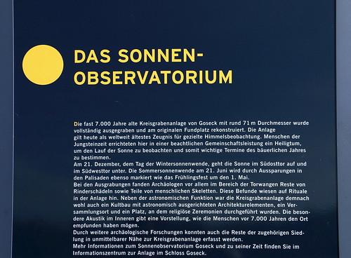 Goseck, Sonnenobservatorium, Info