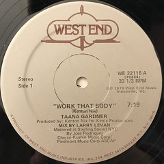 TAANA GARDNER:WORK THAT BODY(LABEL SIDE-A)